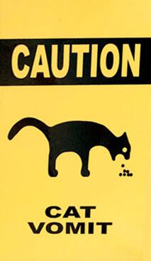 Caution Cat Vomit