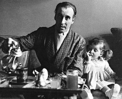 Sir Christopher Lee and His Daughter