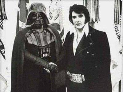 Darth Vader and Elvis Presley