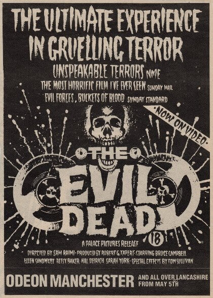 The Evil Dead - Manchester Odeon Newspaper Ad