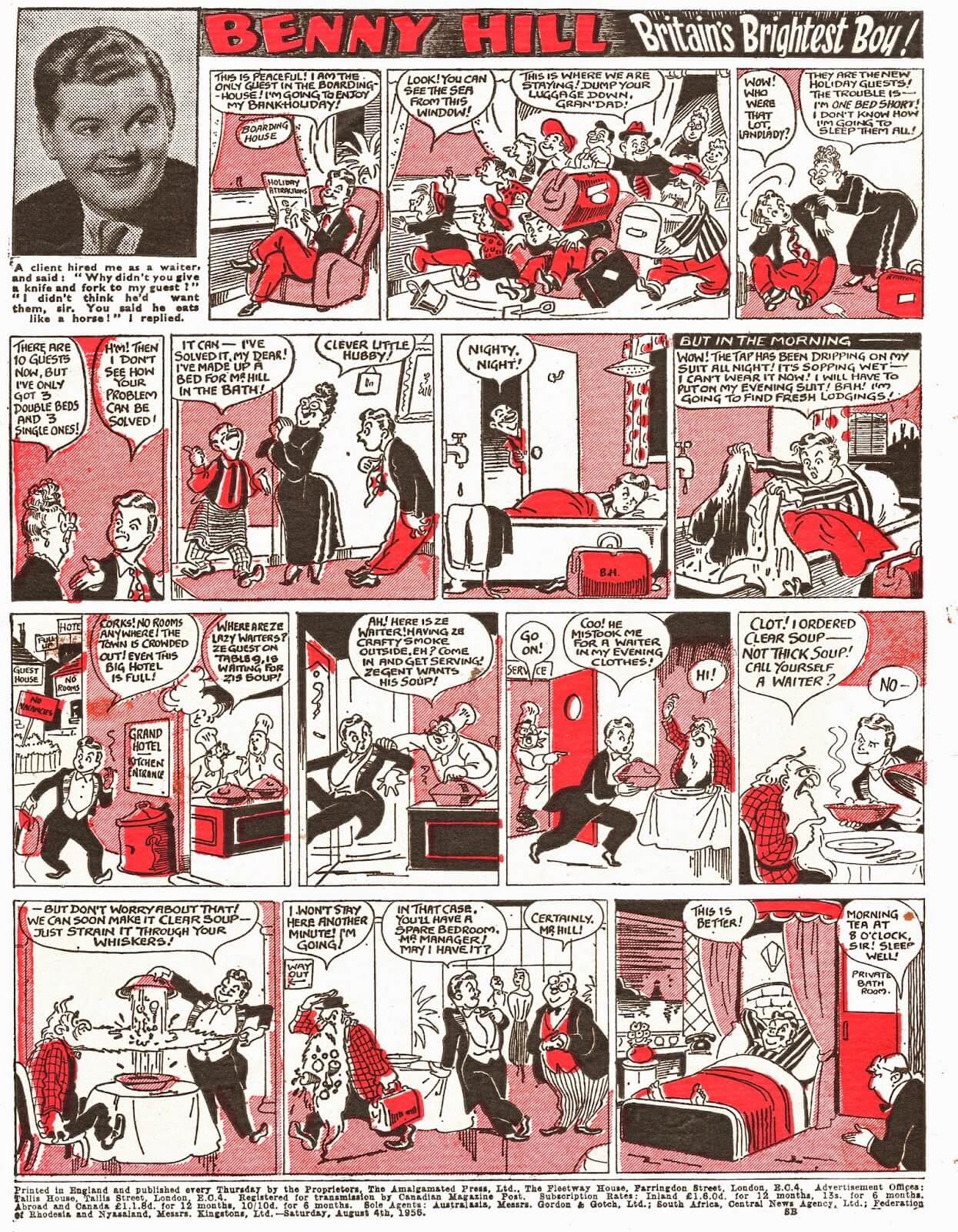 Benny Hill, Britain's Brightest Boy - Film Fun (1956/08/04)
