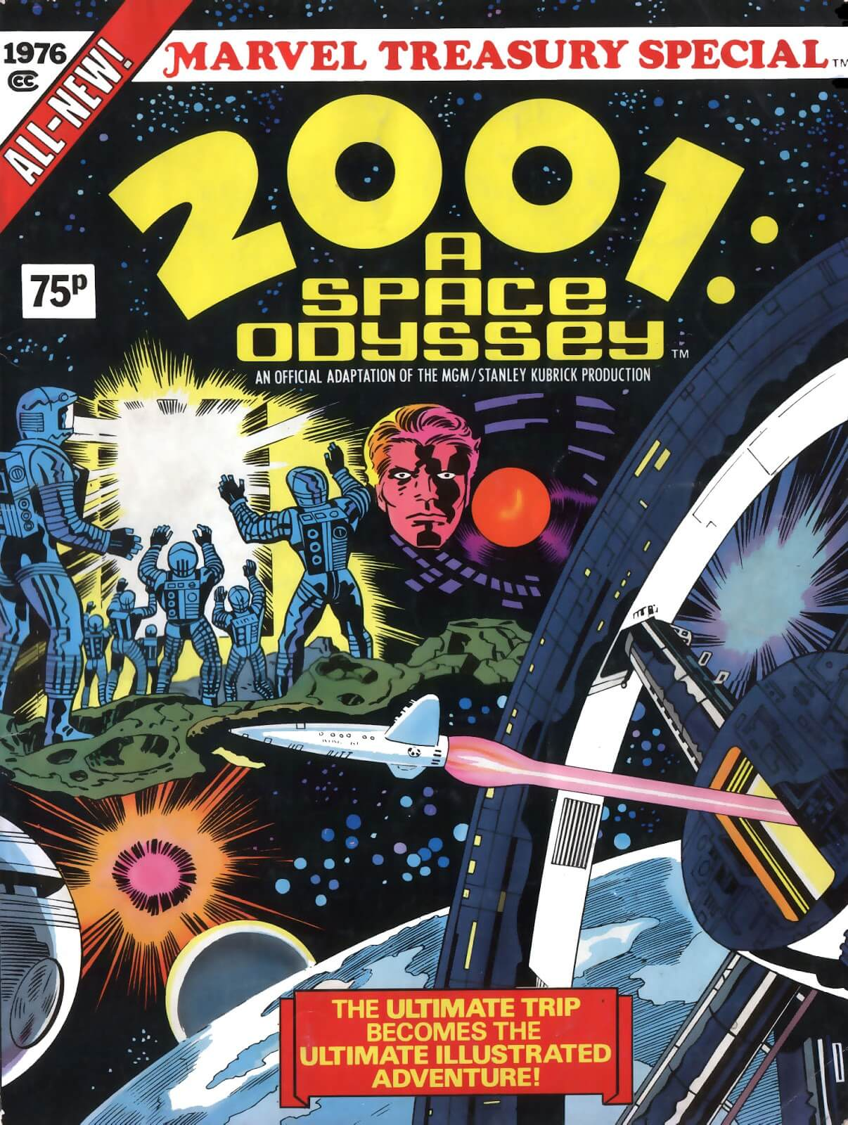 2001: A Space Odyssey - Jack Kirby's Comics Cover Art