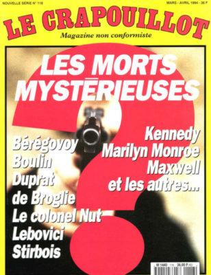 Le Crapouillot, nouvelle série, no 118 : Les morts mystérieuses