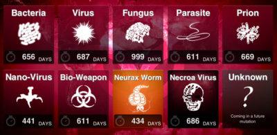 Plague, Inc. - Menu