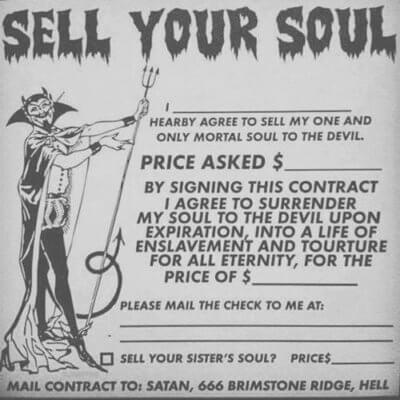 Sell Your Soul - Contract