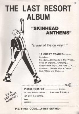 The Last Resort Album - Skinhead Anthems