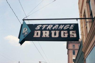 Strange Drugs Signage